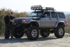 Lifted cherokee #roof #rack