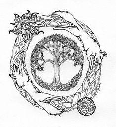 Hati/Skoll/Fenrir Tattoo - Sök på Google