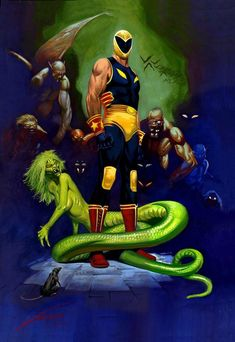 Gallur Garr Adventure Art Wrestling Fantastic Art Comic Art