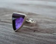 SIberian AMETHYST and silver ring.