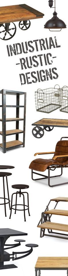 Industrial Rustic Furniture & Décor | Up to 60% Off at dotandbo.com Dining Tables