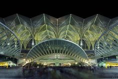 "Was designed by Architect, artist, and engineer Santiago Calatrava The ""Oriente Station"" is the train station located in Lisbon Which was a..."