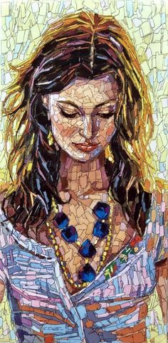 40 Most Intelligent Mosaic Art Works and Practices - Bored Art Mosaic Artwork, Mosaic Wall, Mosaic Glass, Glass Art, Stained Glass, Paper Mosaic, Mosaic Portrait, Mosaic Projects, Mosaic Designs