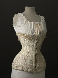 fripperiesandfobs:    Corset, 1900  From the Musee Galliera    ♥