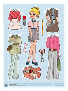 Charles S. Anderson Design Co.  French Paper Company   Paper Doll Posters