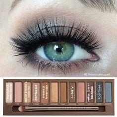 Natural look- urban decay naked palette 1 pictorial :) prom makeup, hair makeup Eyeshadow For Green Eyes, Makeup For Green Eyes, Love Makeup, Beauty Makeup, Makeup Looks, Makeup Ideas, Makeup Tutorials, Makeup Geek, Skin Makeup