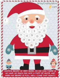 13 Free Printable Christmas Advent Calendars for Kids: Easy to make homemade advent calendars (December, DIY)