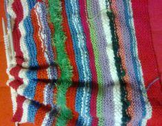 Work in progress...baby blanket with left over wool