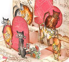 Scrap Escape: Pretty Little Kitty Card Post - Petaloo Crazy Bird, Crazy Dog, Crazy Cats, Crazy Animals, Pet Day, Dog Cards, Little Kitty, Cat Silhouette, Blue Cats