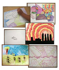 Five Super Easy Art Lessons ~ Easy for teachers, fun for kids, great for substitutes!