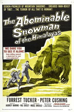 El Monstruo del Himalaya (The Abominable Snowman Of The Himalayas, 1957): Peter Cushing y un monstruo de la Hammer