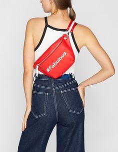 Yazılı bel çantası - YENİ | Stradivarius Türkiye Athletic Tank Tops, Bags, Clothes, Shoes, Dresses, Women, Style, Fashion, Handbags