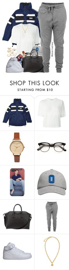 """""""My likes aren't adding up with my set views"""" by dope-madness ❤ liked on Polyvore featuring Helly Hansen, T By Alexander Wang, Olivia Burton, October's Very Own, Givenchy, Diesel, NIKE, Versace and Mudd"""