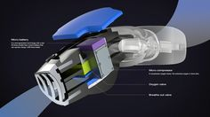 The first re-breather with artificial gills concept, Nov. 2013