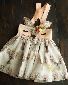 Deer Skirt Woodland Deer-Woodland birthday party boho baby