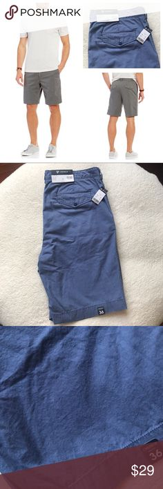 """NWT Daniel Cremieux Blue Flat Front Sz 36 Shorts NWT Daniel Cremieux Blue Flat Front Sz 36 Shorts   From Cremieux, these shorts feature: * flat front * solid tone * vintage wash for super softness * back flap pockets * 10"""" inseam  New with tags.  There is a small Pink spot on the shorts - please see pics. It is very small!   Offers welcome! Daniel Cremieux Shorts Flat Front"""