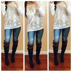 amiclubwear, amiclubwear boots, Boots, how to style, how to style over the knee boots 22 ways, over the knee lace up riding boots, pretty, riding boots, two toned boots, perfect outfit for a college student, outfit for school, great outfit for school, distressed denim,