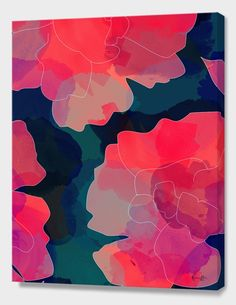 """""""Blushing Flowers- Purple"""", Limited Edition Canvas Print by Rebecca Allen - From $85.00 - Curioos"""