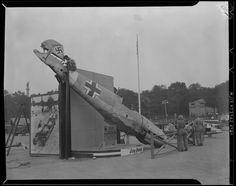 Messerschmitt displayed on Boston Common WWII era