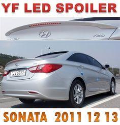 Rear Lip Spoiler PAINTED White Pearl 1p For 2011 2012 Hyundai ix45 YF Sonata