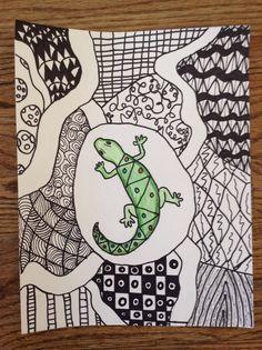 Lizard zentangels