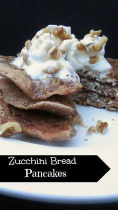 Zucchini bread pancakes: all the flavor of your favorite quick bread in pancake form. These pancakes combine shredded zucchini and crushed pineapple for a delightful and healthy start to any day.