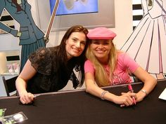 Idina Menzel & Kristin Chenoweth  This was at Sephora in Times Square ten years ago. I was there! (But didn't take this photo). I got a makeover AND a signed CD.  It was so cool.  They were launching a Wicked lip gloss line I believe.  Kristin was so sweet.  Love this memory of my early days in NYC!