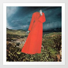 HAUNTING Art Print by Beth Hoeckel Collage & Design - $19.00