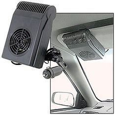 Visor Mount Mini Heater And Defroster Mini Heater For Your Car! Car Cooler, Home Helpers, Gag Gifts, Car Stuff, Seat Covers, Floor Mats, Mini, Health, Vehicles