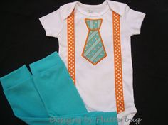 BOYS Bodysuit and Leg Warmers Set with by Designsbyflutterbug, $31.95