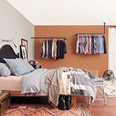 10 Of Our Favorite Colorful Rooms On Instagram #refinery29  http://www.refinery29.com/instagram-colorful-rooms#slide-3  ​— SPONSORED —Gray + Terra-cotta OrangeWhile we wouldn't have immediately pegged these as obvious bedroom paint hues, this Lowe's snap makes a strong case for the two as the ultimate cozy color pairing....