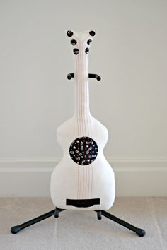 Classic Signature Guitar Pillow / Guitar Softie by pookiedookie