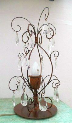 Lámpara velador  vintage metal Cod-219