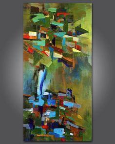Die Original stehen abstrakte Acrylbild von Tree3332 auf Etsy