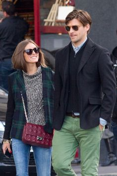 The Olivia Palermo Lookbook : Olivia Palermo and Johannes Huebl strolling in Paris