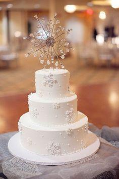 103 Fabulous Winter Wedding Cakes | HappyWedd.com
