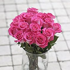 Greenchoice - 50 Fresh cut Pink Roses   20 '' long stem   No vase, for Valentine's Day