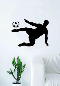 Soccer Player V3 Wall Decal Sticker Vinyl Art Decor Home Bedroom Sports Futbol World Cup FIFA Teen Kids Baby Nursery - purple