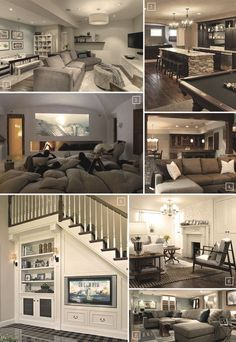Turning a Basement Into A Family Room: Designs Ideas