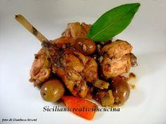 Coniglio stufato con olive