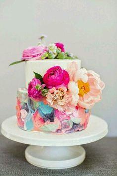 Fantasy Sugar flower wedding cake - entirely edible