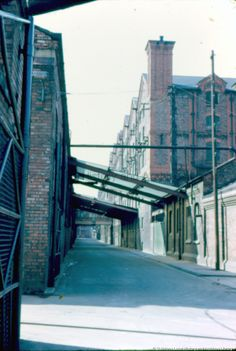 Colour photographic transparency showing loading bays of Pilkington Brothers Limited, St. St Helens Town, Saint Helens, Pilkington Glass, Back In The Day, Louvre, Fair Grounds, Bays, Working Class, Urban
