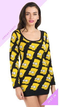 Don't skip Jeremy Scott's iconic Bart Simpson pieces.  skirt women #2dayslook #new #fashion #nice  www.2dayslook.com