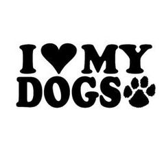 "I HEART MY DOGS CUTE DOG PAW PRINT Fridge Car Magnet 5/""x5/"" LARGE SIZE NEW"
