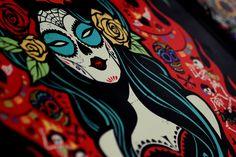 Day Of The Dead ~ Hell Pizza by Gina Kiel, via Behance