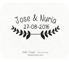 "Sello Boda ""Hojas"" - Wedding Stamp"