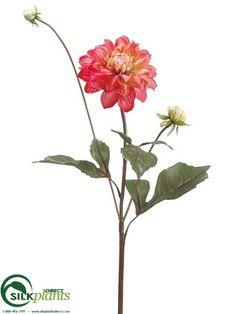 Dogwood silk flower spray in red295 silk flowers flower spray dahlia spray peach pink pack of 12 mightylinksfo Image collections