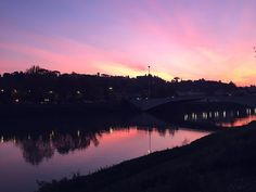 Pink sunset in Florence, Italy // @allafiorentina