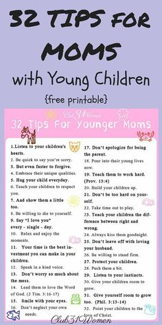 FREE Printable. Here's a cheerful list of encouragement and reminders of what really matters when you're a mom with young children.~ Club31Women