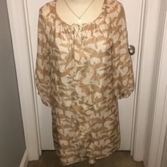 Tibi bird pattern dress This dress is light and comfortable. It has a ruffle going down the middle of the dress and ties by the chest. It's been worn a few times but it's in great condition. I am willing to negotiate price Tibi Dresses